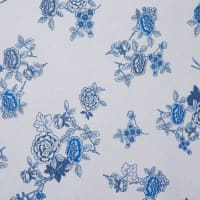 Fabtrends Vienna Floral Ivory Blue