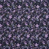 Fabtrends DTY Ditsy Floral Navy Lilac