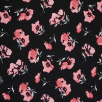 Fabtrends Liverpool Floral Black Pink