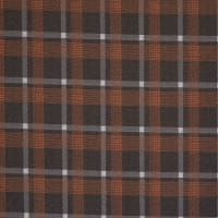 Fabtrends Jacquard Check Rust