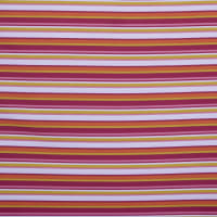 Fabtrends Wool Dobby Stripe White Orange Magenta