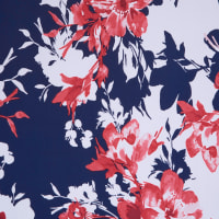 Fabtrends Ity Floral Navy Red