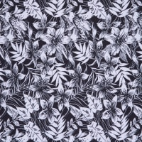 Fabtrends DTY Jungle Floral Black White