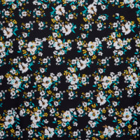 Fabtrends DTY Ditsy Floral Black Yellow