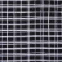 Fabtrends Scuba Crepe Plaid Check Black White