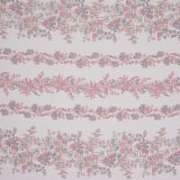 Fabtrends Yoryu Chiffon Abstract Floral Peach Lavender