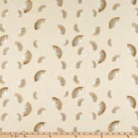 Richloom Platinum Finchley Embroidered Linen Flax