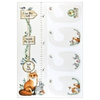 "Northcott Watch Me Grow Chart & Bib 28"" Panel Cream Multi"