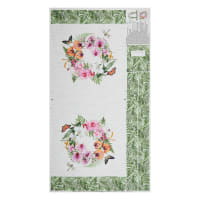 """Northcott Orchids In Bloom Tote 24"""" Panel Multi"""