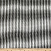 Yarn Dyed Woven Stretch Suiting Houndstooth Checker Black/White