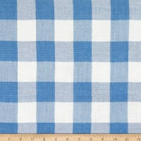Tencel Double Cloth Gauze Plaid Blue