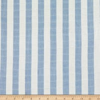 Tencel Double Cloth Gauze Stripe Blue