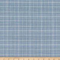 Samuel Yarn Dyed Woven Stretch Suiting Plaid Blue