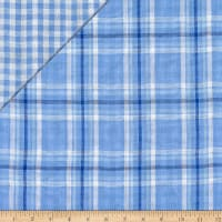 Double Face Plaid Cotton Gauze Chambray