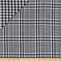 Double Face Jesse Yarn Dyed Woven Plaid Black/White