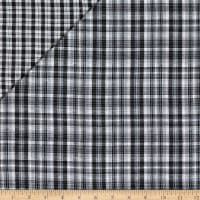 Double Face Sammy Yarn Dyed Woven Plaid Black/White
