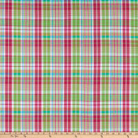 Cotton Lawn Plaid Fuchsia