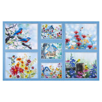 "P&B Textiles Song Birds Digital Birds 24"" Panel Multi"