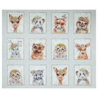 "P&B Textiles Little Darlings Woodland Animal 31"" Panel Multi"