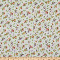 P&B Textiles Little Darlings Woodland Flowers Silver Grey