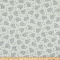 P&B Textiles Little Critters Bears Silver Grey