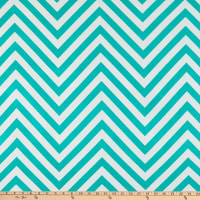 ITY Stretch Knit Chevron Teal