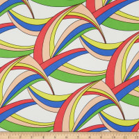 ITY Stretch Knit Abstract/Geometric Arches Multi