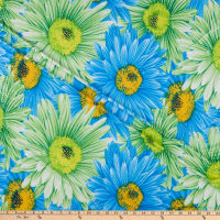ITY Stretch Knit Floral Blue/Green Multi