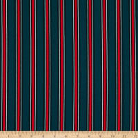 Bubble Crepe Stripes Green/Red