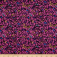 Rayon Stretch Jersey Knit Cheetah Pink