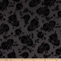 Mesh Stretch Knit Roses Black