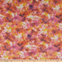 Power Mesh Stretch Knit Tye Dye Orange/Purple/Yellow
