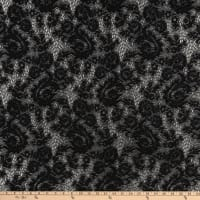 Crochet Lace Knit Small Floral Black