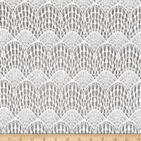 Crochet Lace Knit Polyester/Cotton Abstract White