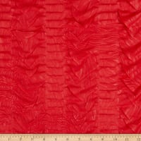 Ruffle Knit Textured Red