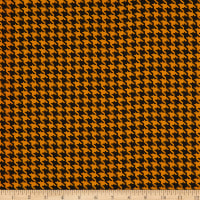 Crepe Georgette Houndstooth Black/Yellow