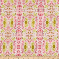 Crepe Georgette Abstract Floral Pink/Green