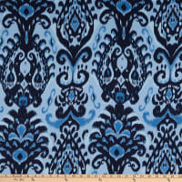 Crepe Georgette Abstract Blue/Navy