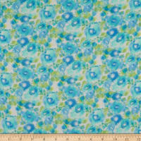 Himulti Chiffon Abstract Floral Blue/Green