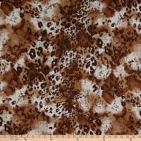 Stretch Hatchi Sweater Knit Animal Print Brown