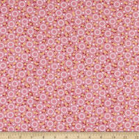 Kaufman Darlene's Favorites Circles And Flowers Pink
