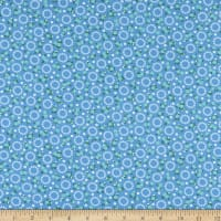 Kaufman Darlene's Favorites Circles And Flowers Blue