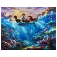 "Thomas Kinkade's Digital Disney Dreams Dreams Little Mermaid 36"" Panel Multi"
