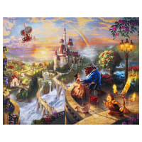 "Thomas Kinkade's Digital Disney Dreams Falling In Love 36"" Panel Multi"