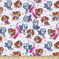 Paw Patrol Pawfect Friends Flannel White
