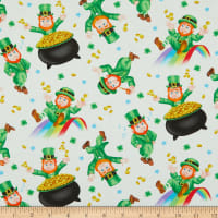 Henry Glass Pot Of Gold Tossed Leprechaun Multi