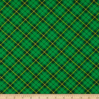 Henry Glass Pot Of Gold Diagonal Plaid Green