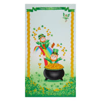 "Henry Glass Pot Of Gold 24"" Leprechaun Panel Multi"