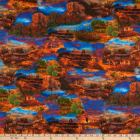 Timeless Treasures Southwest Allover Desert Scenic Multi