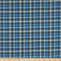 Timeless Treasures I Love You To The Moon And Back Plaid Navy